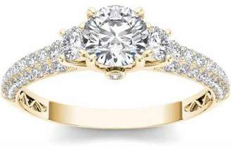 Imperial Diamond Imperial 1-1/2 Carat T.W. Diamond Three-Stone Engagement Ring in 14kt Yellow Gold