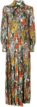 Gucci hidden animal maxi dress