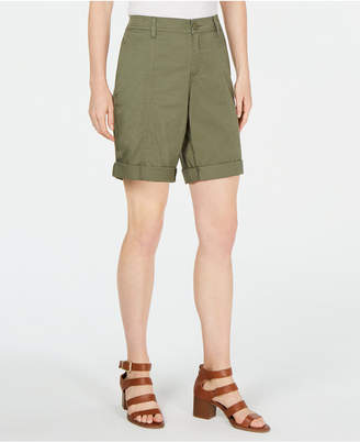 Style&Co. Style & Co Cuffed Seam-Detailed Shorts, Created for Macy's