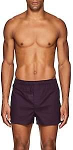 Derek Rose Men's Nelson Cotton Boxer Briefs-Navy