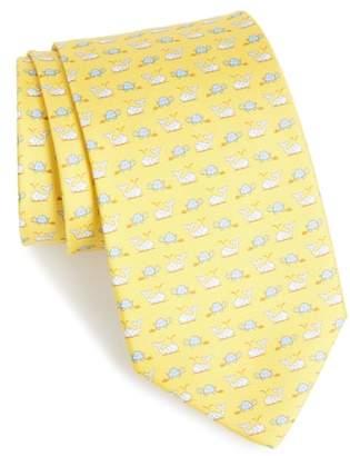 Salvatore Ferragamo Gulp Print Silk Tie