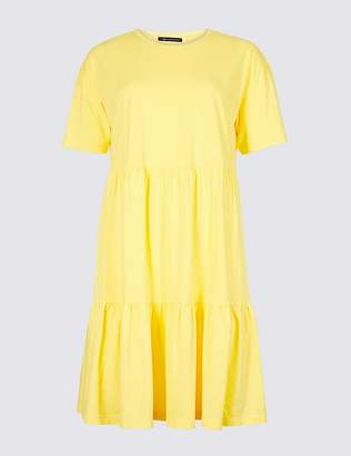 Marks and Spencer Pure Cotton Half Sleeve Tunic Dress
