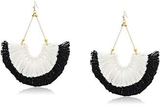 Panacea White Fan Drop Earrings