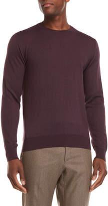 Luciano Barbera Wool-Blend Contrast Stitch Sweater
