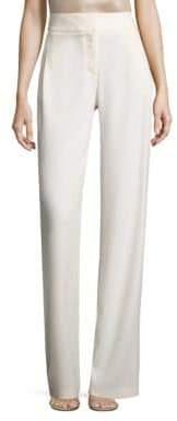 Halston Wide-Leg Crepe Pants
