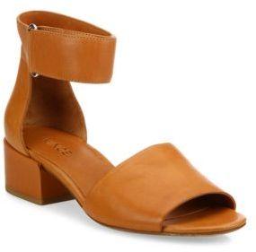 Vince Rosalia Leather Grip-Tape Block-Heel Sandals $295 thestylecure.com