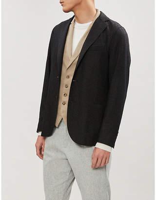 Eleventy Stretch cotton-twill waistcoat