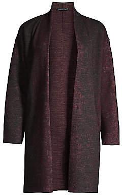 Eileen Fisher Women's Wool & Nylon Kimono Cardigan