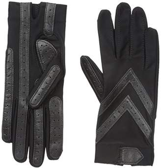 Isotoner Women's Spandex Shortie Gloves with Leather Palm Strips $38 thestylecure.com