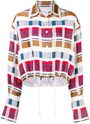 Sonia Rykiel drawstring waist patterned shirt