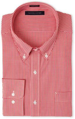 Tommy Hilfiger Red Check Regular Fit Dress Shirt