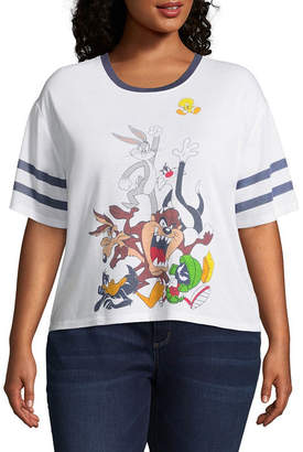Looney Tunes Hybrid Tees Varsity Tee - Juniors Plus