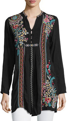 Johnny Was Sheela Embroidered Long Tunic, Plus Size $255 thestylecure.com