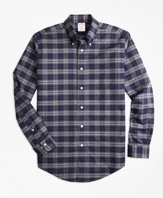 Brooks Brothers Non-Iron Madison Fit Plaid Sport Shirt