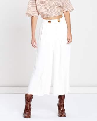 Topshop Rita Cropped Wide Leg Trousers