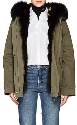 Yves Salomon Army by Women's Reversible Cotton & Fur Parka - Hunter Green, Et
