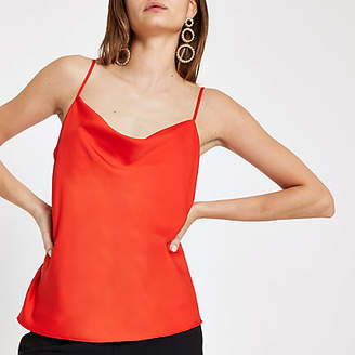 River Island Red cowl neck cami top