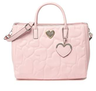 Betsey Johnson Diamond Quilted Structured Satchel