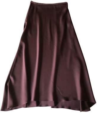 Arket Burgundy Silk Skirt for Women