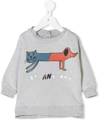 Bobo Choses cat dog print sweatshirt