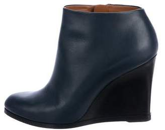Celine Leather Wedge Ankle Booties
