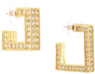 Kenneth Jay Lane square shaped hoop earrings