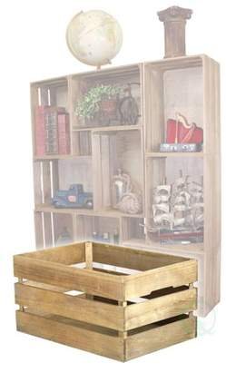 Vintiquewise Antique Style Wooden Crates, Easy to Stack for Decorative Shelving