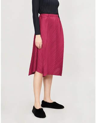 Pleats Please Issey Miyake Flow pleated midi skirt