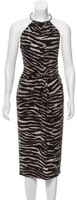 Michael Kors Sleeveless Printed Midi Dress