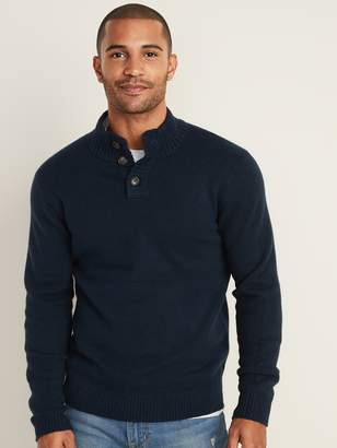 Old Navy Button-Down Mock-Neck Sweater for Men
