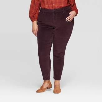 Universal Thread Women's Plus Size Mid-Rise Skinny Jeans Burgundy