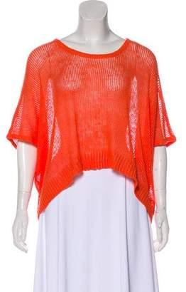 Robert Rodriguez Linen Knit Short Sleeve Top w/ Tags