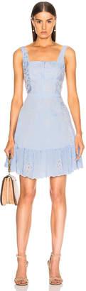 Nicholas Embroidered Stripe Dress