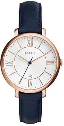 Fossil Women's Jacqueline Quartz Stainless Steel and Leather Casual Watch
