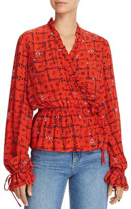 Preen Line Verena Silk Wrap Top
