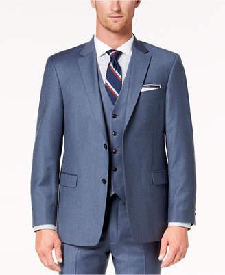 Tommy Hilfiger Men Modern-Fit Th Flex Stretch Blue/Gray Twill Suit Jacket
