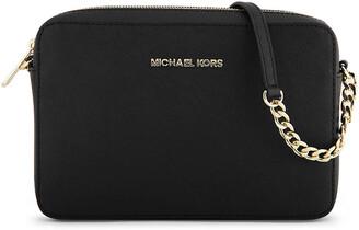 644b008b5ea922 Michael Michael Kors Jet Set Chain Leather Shoulder Bag - ShopStyle