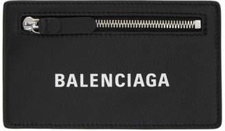 Balenciaga Black Long Baltimore Logo Card Holder