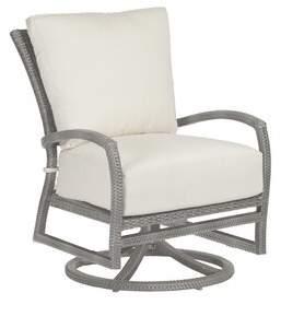 Summer Classics Skye Swivel Rocking Lounge Chair with Cushion Summer Classics