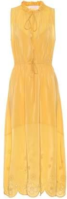 See by Chloe Sleeveless silk-blend dress