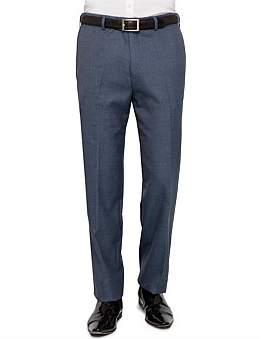 Zeds Flat Front Sharkskin Plain Trouser