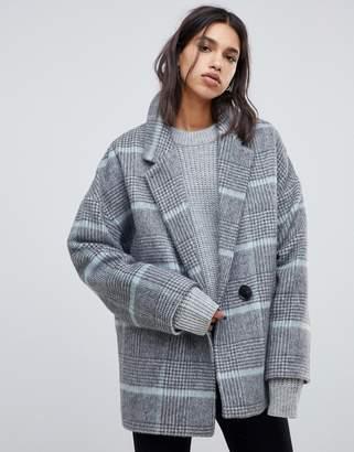 AllSaints simi check coat