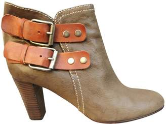 Chloé Leather buckled boots