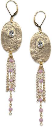 Electric Picks Pink Moonstone Gold Skies Earrings
