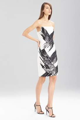 Josie Natori Fluid Crepe Strapless Dress