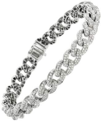 Sydney Evan Small Pavé Diamond Link Bracelet - White Gold