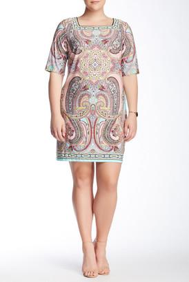Sandra Darren Printed Dress (Plus Size) $74.99 thestylecure.com