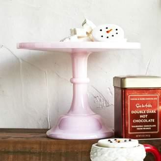 "Mosser Pink Milk Glass Cake Stand, 10"""