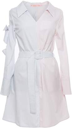 Tomcsanyi - Marosi Blue Colour Block Tie Sleeve Shirtdress