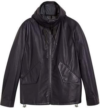 Burberry Paper-light Lambskin Hooded Jacket